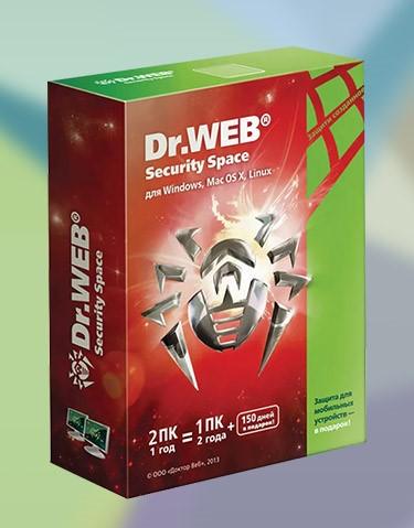 Купить Dr.Web Security Space 1ПК/17 мес +150 дней продление