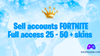 Купить аккаунт Fortnite 25 - 50 скинов + Полный доступ + Почта на Origin-Sell.com