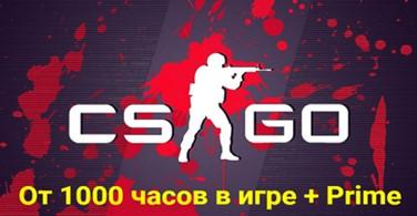 Купить аккаунт CS:GO + от 1000 часов в игре + Prime на SteamNinja.ru