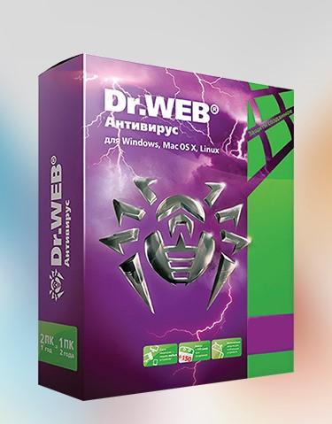 Купить Dr.Web Антивирус Продление 1 Год 1 ПК + 1 mobile