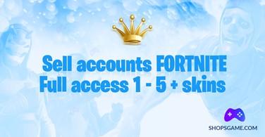 Купить аккаунт Fortnite 1 - 5 + скинов + Полный доступ + Почта на SteamNinja.ru
