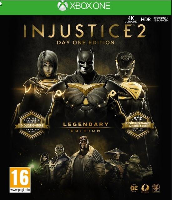 Injustice 2 легендарное издание Xbox One RUS Code
