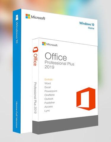 Windows 10 Home + Office 2019 Pro Plus (x32-x64)
