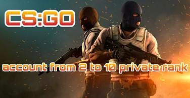 Купить аккаунт CS:GO аккаунт 🔥 от 2 до 21 приват ранг ✅ на SteamNinja.ru