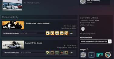 Купить аккаунт CS:GO - 800 часов ⭐ Для FACEIT.com ❤️ 2 ШТУКИ на SteamNinja.ru