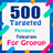 500 Target Members (For Group)