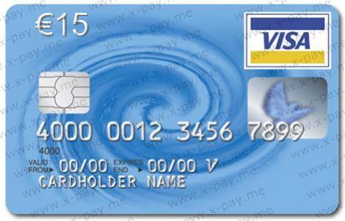 EURO 15 Виртуальная предоплаченная карта Visa Virtual