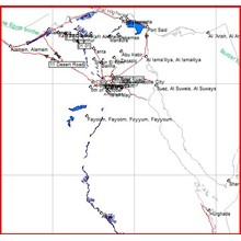 Map of Egypt for the GPS-navigation