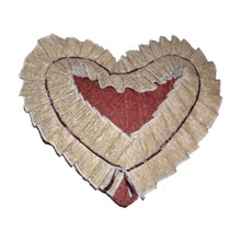 Production of decor. Heart pillow