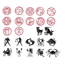 Signs of the zodiac vector clipart