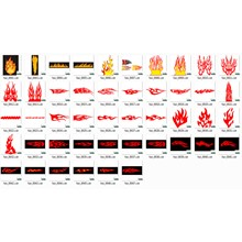 Graphics flame of fire (in the vector)
