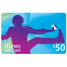 iTunes Gift Card 50 $ (USA) (real card) - DISCOUNTS