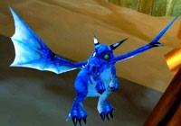 Dragons: azure, purple, emerald green and dark