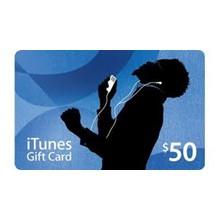 iTunes Gift Card $ 50 USA + Discounts