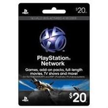 Playstation Network PSN $ 20 (USA) + Discou
