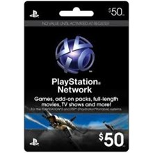 Playstation Network PSN $ 50 (USA) + Discount
