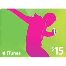 iTunes Gift Card $ 15 - USA + Discounts
