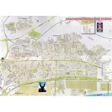 Detailed map Kr.Oktyabrskogo district of Volgograd.