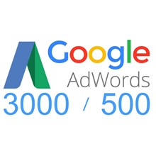 Account with coupon Google Ads (Adwords) 3000/500 ruble