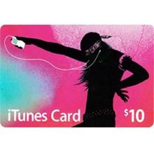 iTUNES GIFT CARD - $10 (USA) 🎵 | DISCOUNTS