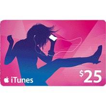 iTUNES GIFT CARD - $25 (USA) 🚩 | DISCOUNTS