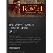 TW: ROME II Emperor Edition - STEAM Gift / GLOBAL / ROW