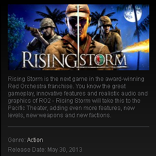 Rising Storm GOTY - STEAM Gift - Region Free / ROW
