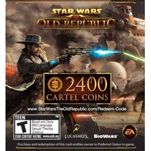 SWTOR key for 2400 CARTEL COINS   DISCOUNTS