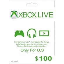 Xbox Gift Card $ 100 USA