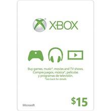 XBOX LIVE CARD $15 (USA) | DISCOUNTS