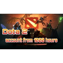 DOTA 2 account 🔥 from 1000 to 2000 hours ✅+Native mail