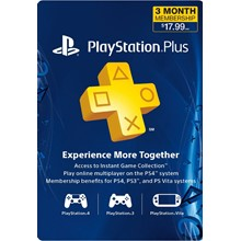 PLAYSTATION PLUS (PSN PLUS) | 3 MONTHS (USA) + Discount