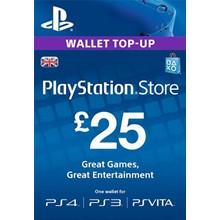 PLAYSTATION NETWORK (PSN) - £25 GBP (UK) | DISCOUN