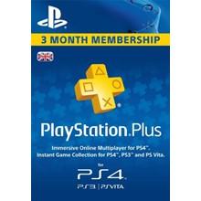 PLAYSTATION PLUS (PSN PLUS) | 90 DAYS (UK) + Discount