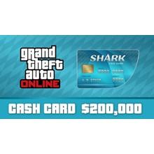 👻GTA Online: Tiger Shark Cash Card $ 200
