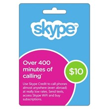 Skype $10 USD Original Codes - Voucher Redeem