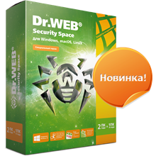 Dr.Web Security Space 2 Years 2 PC + 2 моб REG FREE