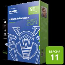 Dr.Web: 5 PCs, 1 file server, 5 mobile devices