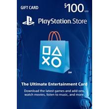 PLAYSTATION NETWORK (PSN) - $100 (USA) | Discounts