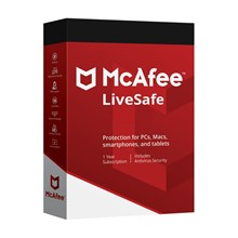 🔥 MCAFEE LIVESAFE 1 USER 1 Year UnlimDevice RUS/ENG