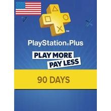 Playstation Plus PSN Plus 90 days USA