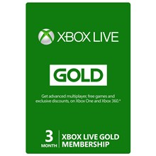 XBOX LIVE GOLD 3 MONTHS ✅(RU)+GIFT