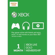 Xbox Live GOLD 1 month (Russia + world)