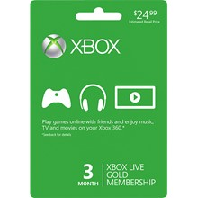 Xbox Live Gold 3 Months Global/RegionFree Subscription