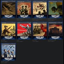 Set Sniper Elite V2 Trading Cards