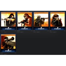 A set of cards Counter-Strike Global Offensive (CS GO)
