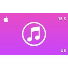 iTunes Gift Card 15 USD US-region