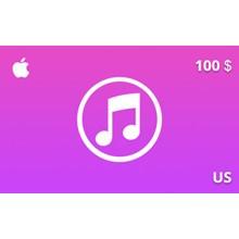 iTunes Gift Card 100 USD US-region