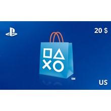 PlayStation Network Gift Card 20 USD US-region