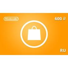 Nintendo eShop Gift Card 600 RUB RU-region